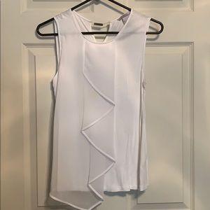 White sleeveless HM blouse